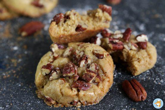 recette de délicieux cookies hyper gourmands aux noix de pécan et au sirop d'érable